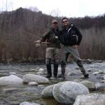Simone e Pietro sul fiume