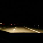guidando prima dell'alba...