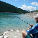 Fishing in the sun!