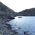 Crepuscolo sul lago alpino