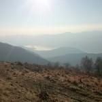 Il lago, visto dalla montagna