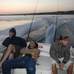 collasso generale in barca all'alba..