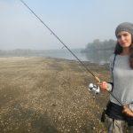 Marta pronta a pescare!