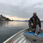 Marcello in prua alla barca