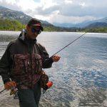 Fabio Morini pronto a pescare